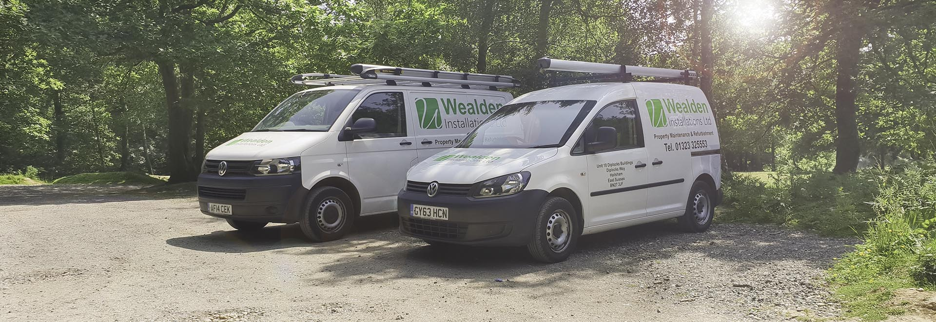 wealden installations vans banner